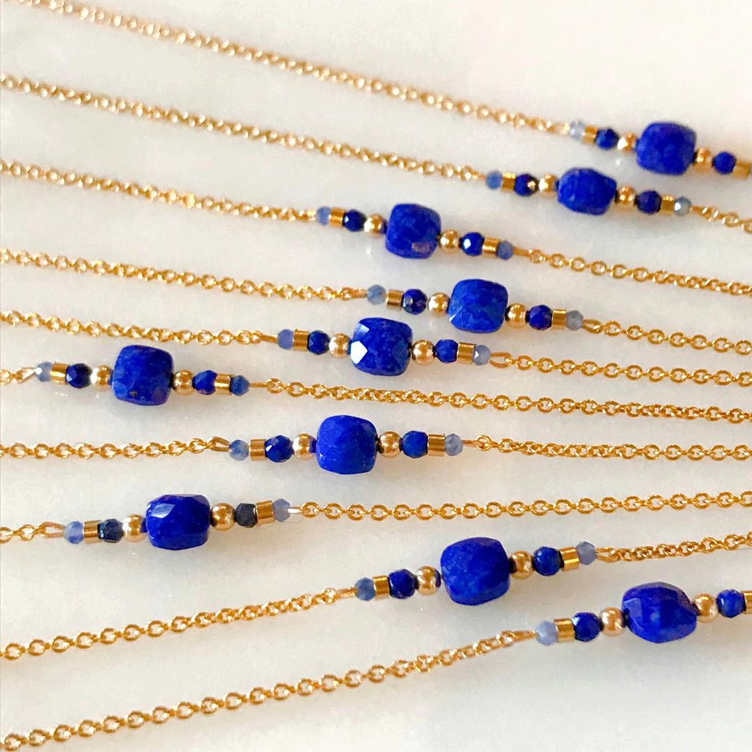 En plein travail, lapis lazuli :)
