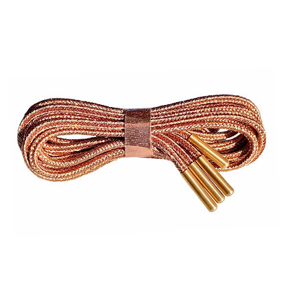 Lacets Bronze embouts or rose