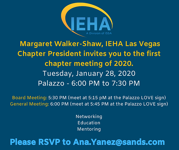Las Vegas Chapter's January 2020 Meeting