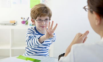 Child In Speech Therapy