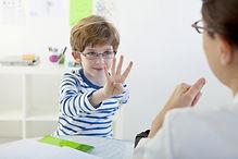 Bambino In logopedia