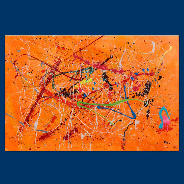 Orange abstract - £3,000