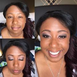 #makeupbyaleah #weddingmakeup #bridesmaidmakeup #beforeandafter