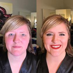 #makeupbyaleah #minneapolismakeupartist #weddingmakeup #bridesmaidmakeup #airbrushmakeup #beforeanda