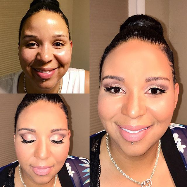 _tina_tbaby Thanks for being my model and my date for Saturday night!  #makeupbyaleah #minneapolisma