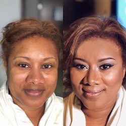 Full airbrush makeup for a night on the