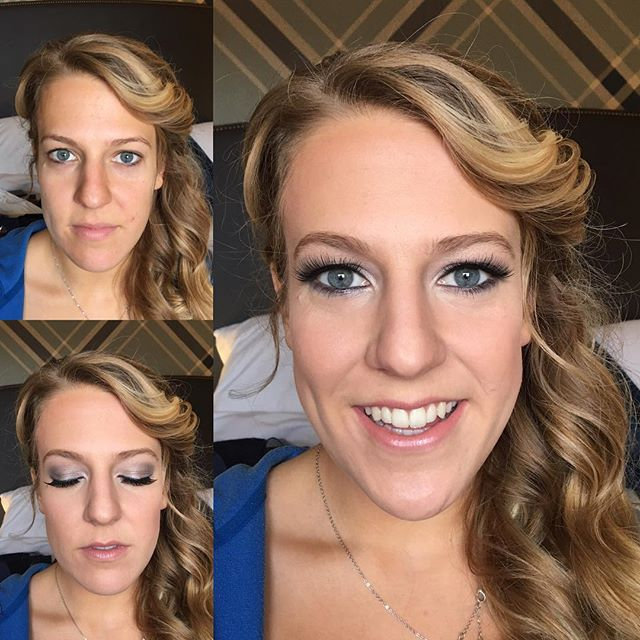 #makeupbyaleah #weddingmakeup #glambridesmaids #beforeandafter
