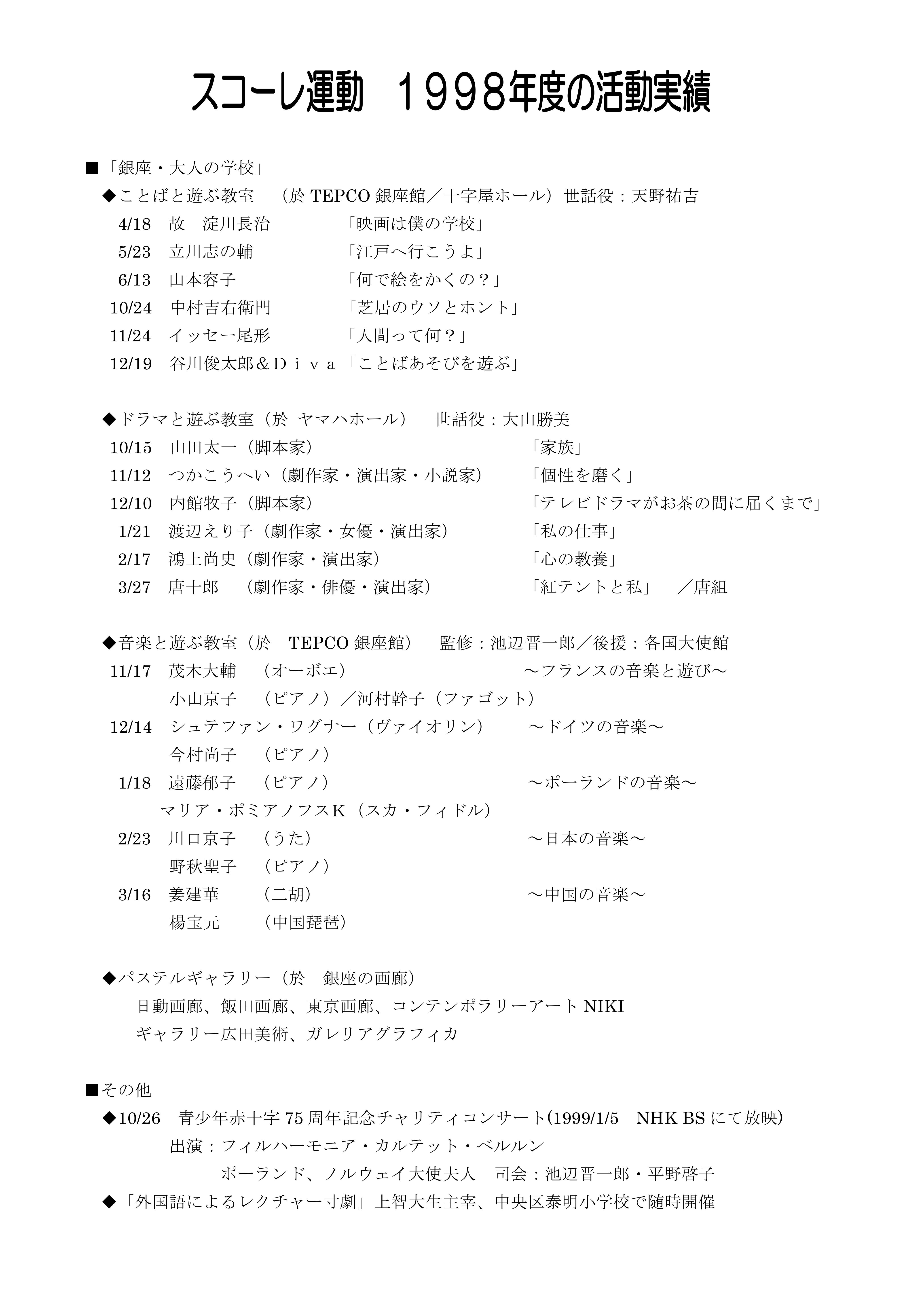 1998_スコーレ(銀座大人の学校)