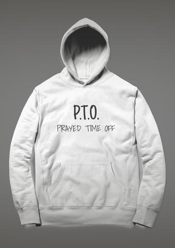 PTO - HOODIE - WHITE