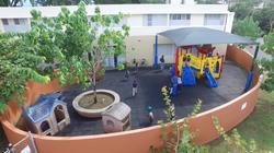 Aerial Kinder playground