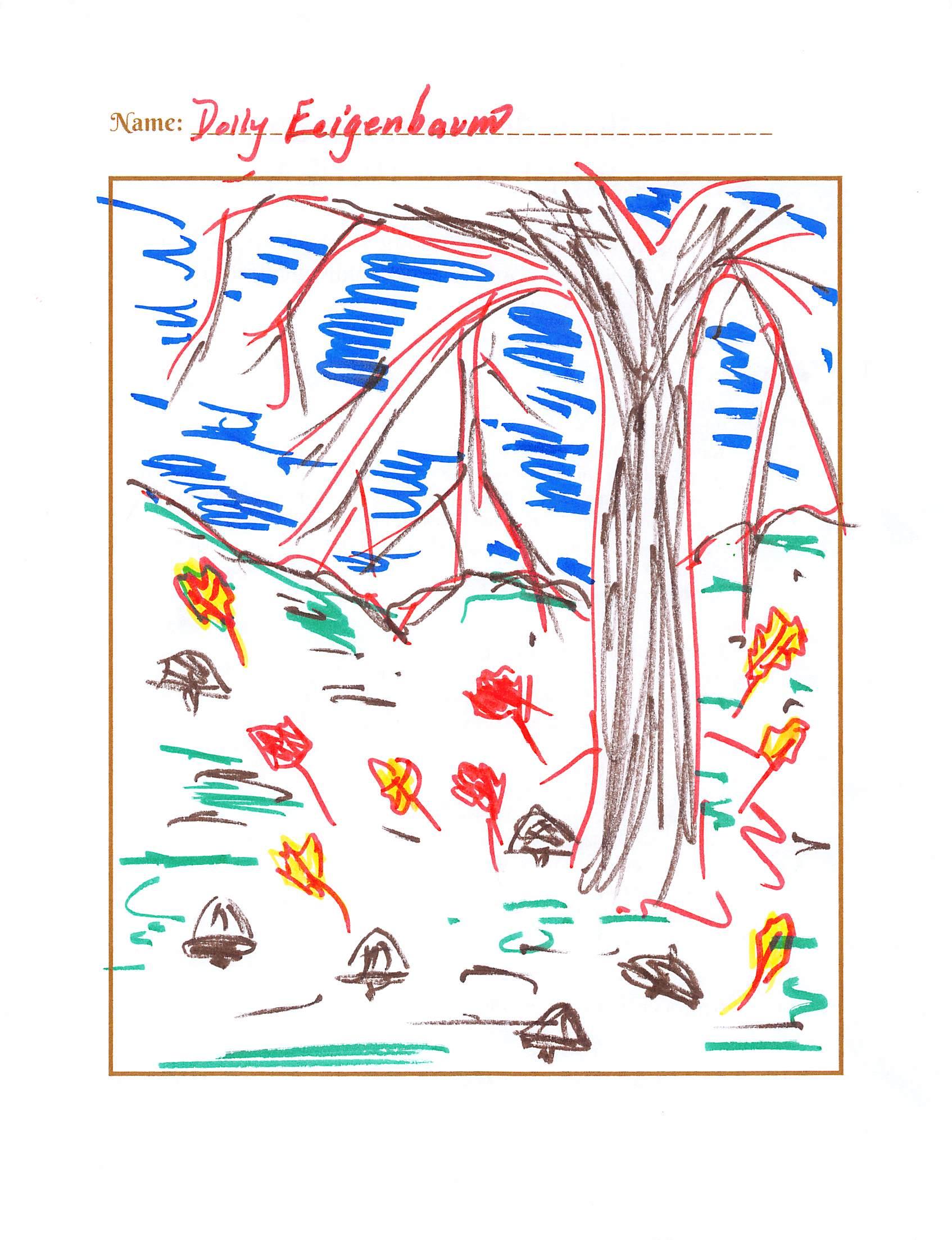 Draw a fall scene!