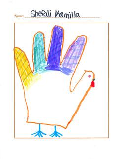 Draw a Hand Turkey