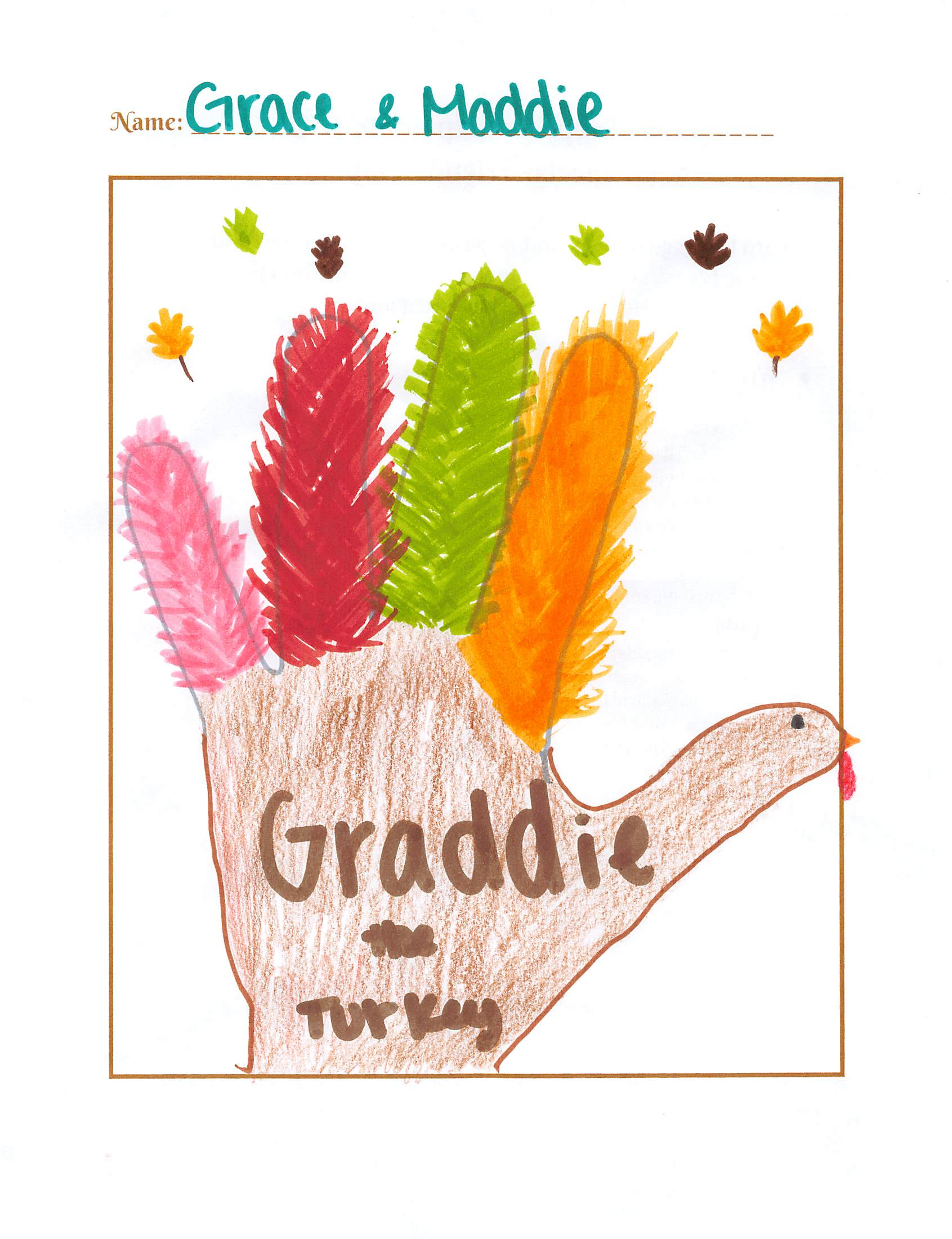Draw a Hand Turkey