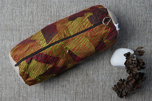 Cotton silk upcycled pencil pouch