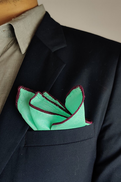 Tussar Sujani pocket square