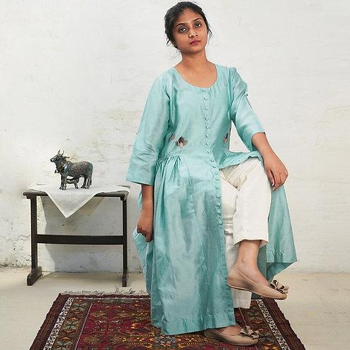 Cotton-Silk Applique Kurti