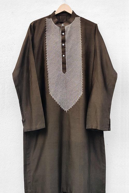 Aari work cotton-silk Men's Kurta