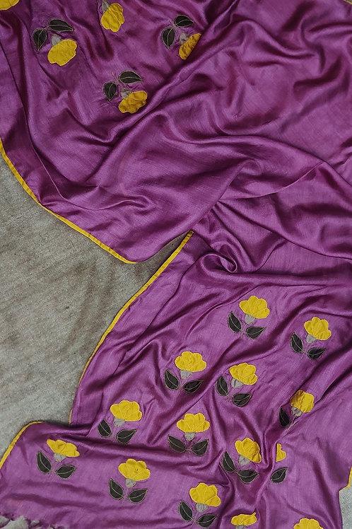 Tussar Silk Applique Dupatta