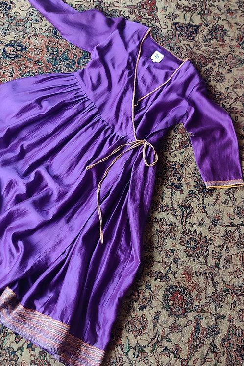 Sujani cotton-silk angrakkha Kurti