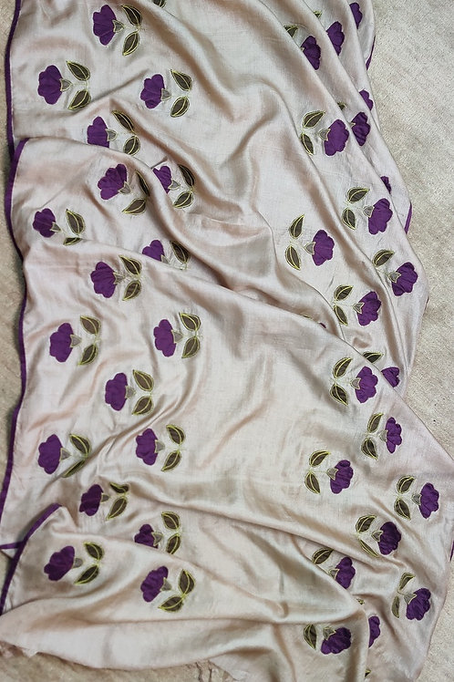 Tussar Silk Applique Dupatta