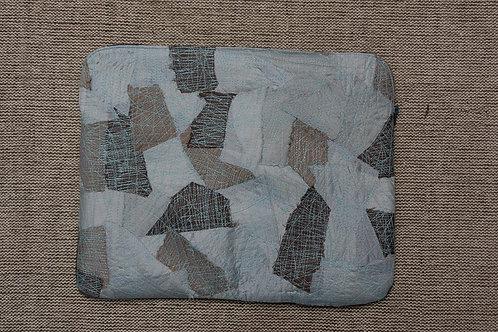 Cotton silk upcycled Laptop sleeve