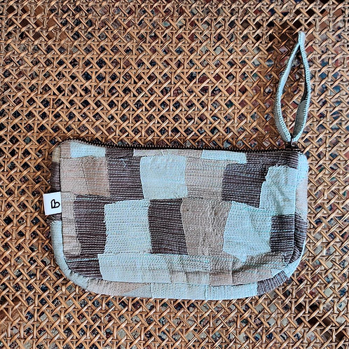 Unisex cotton-silk utility pouch
