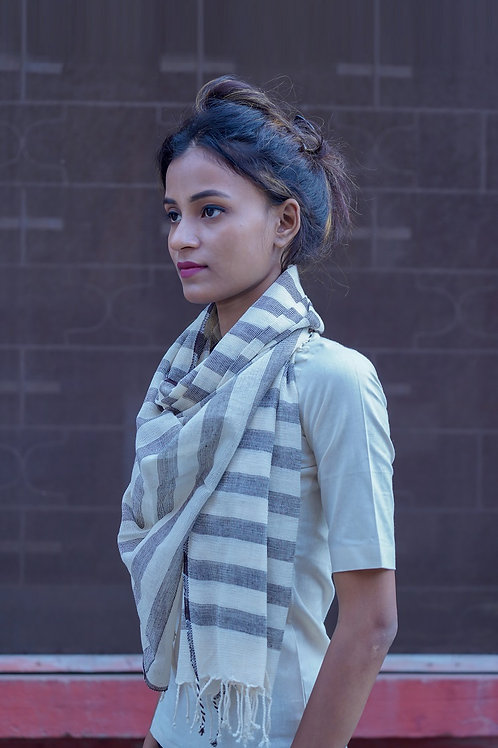 Hand woven cotton Fishnet scarf