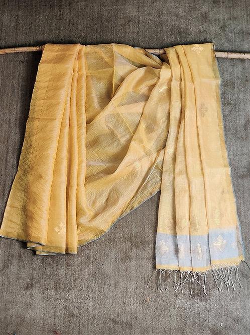 Mulberry silk extra weft sari
