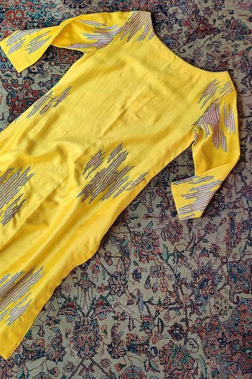 Sujani cotton-silk Kurti