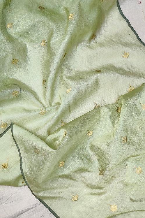 Mulberry silk - Tussar silk Extra weft Dupatta