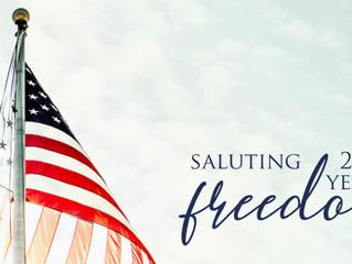 Saluting 245 Years of Freedom