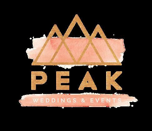 peak weddings logo