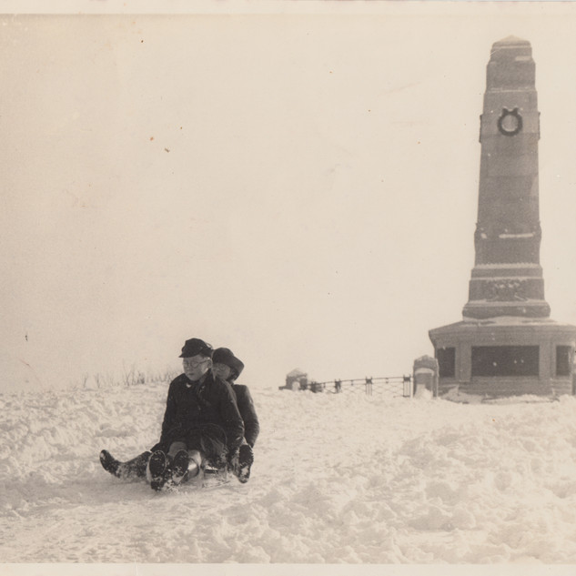 Sledging in the 1950's, photo provided by Malcolm Smith.