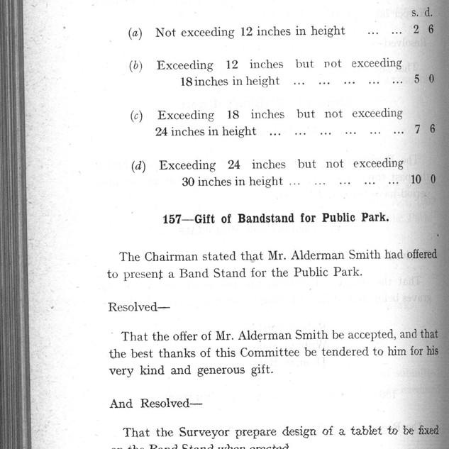 Council Minutes, Alderman Smith's proposal.