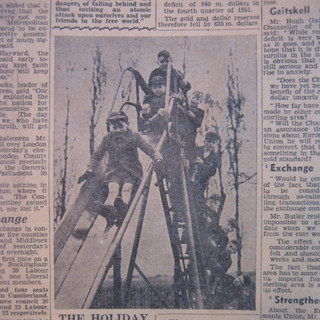 The Banana Slide, from the Mail, April 1952.JPG