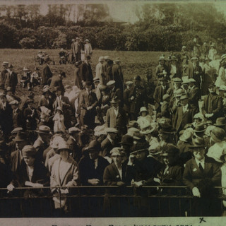 Seen from the Bandstand, visitors to the 1924 Gala.