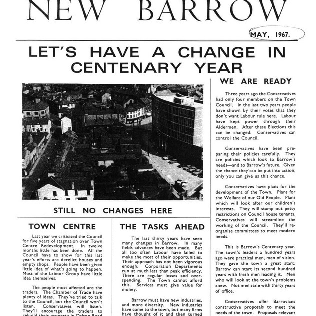 1967 CONSERVATIVE PARTY LEAFLET SHOWING PAXTON ST PROIT TO CLEARANCE.