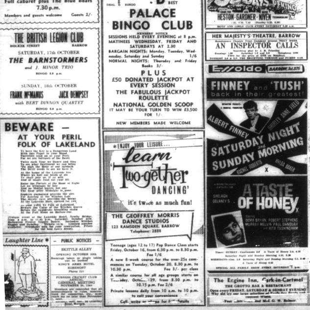 1964,a sample of Barrow nightlife.