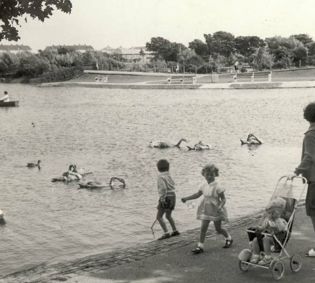 Barrow Park Lake 1960's. from Heather Ho