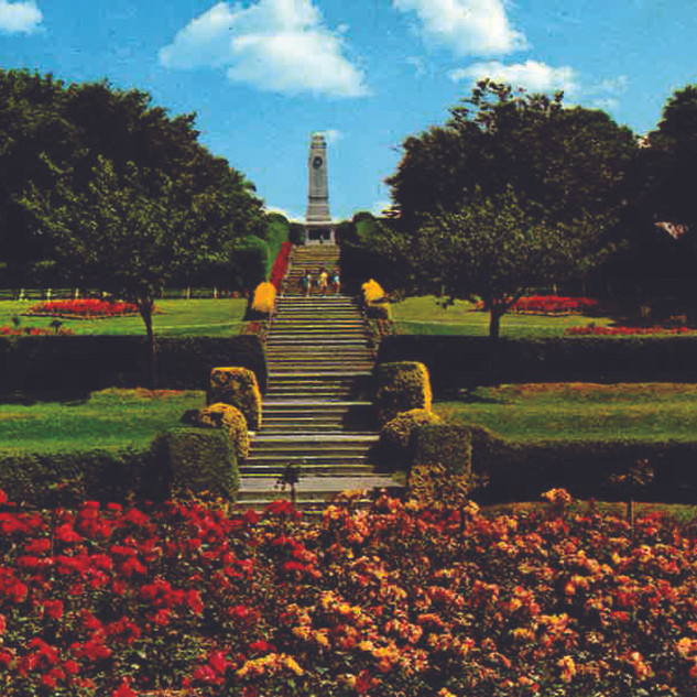 The flower beds that replaced the Bandstand in the 1960's.