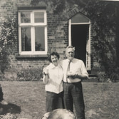 Mr and Mrs Bury at Piel View House. William Bury was Parks Officer in the 1960's.