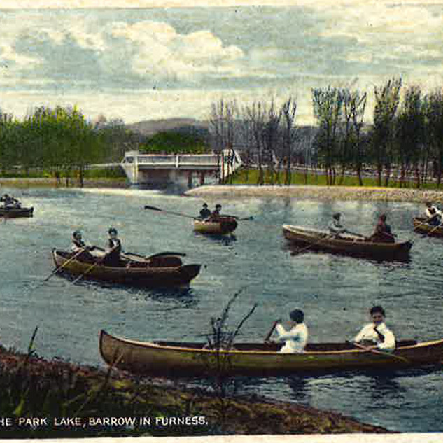 The Boating Lake in the Edwardian period.