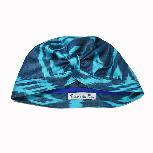 Ikat Turban Turquoise