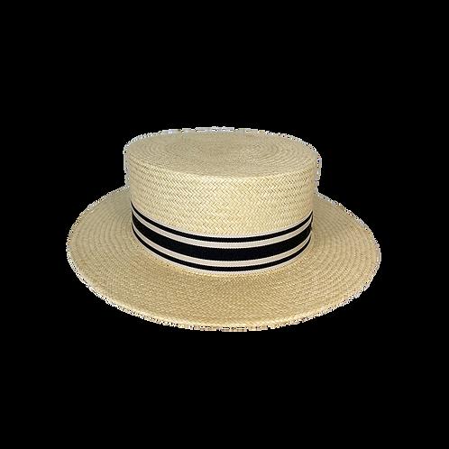 Panama Straw Canotier Vintage style
