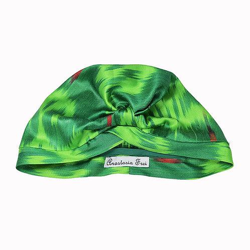 Ikat Turban Green