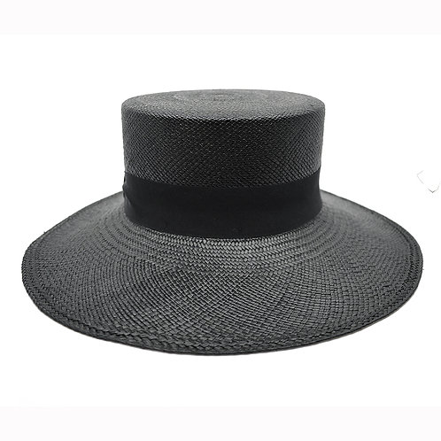Royal Black Panama Straw Hat