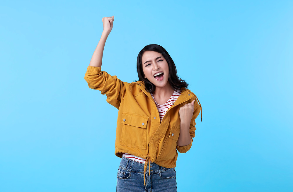 Woman thrilled about getting in to university