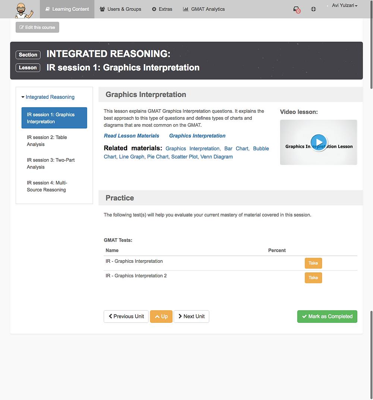 קורס GMAT: Integrated reasoning