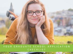 Your graduate school application checklist
