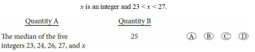 quantitative comparison gre questions